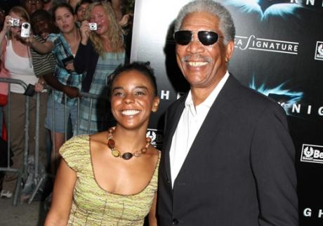 Morgan Freeman And His Step Grand Daughter Awkward